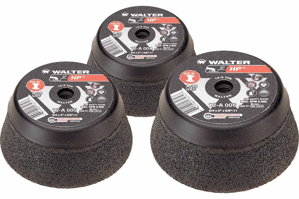 "Walter 12A004 4"" x 5/8""-11"" High Performance Spin-On Cup Wheels"