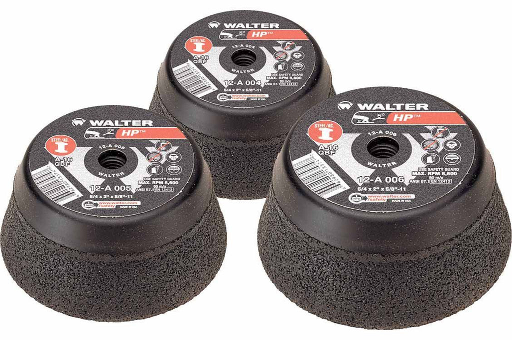 "Walter Cup Grinding Wheels - 5"" x 5/8""-11 HP™ - 12-A-005"
