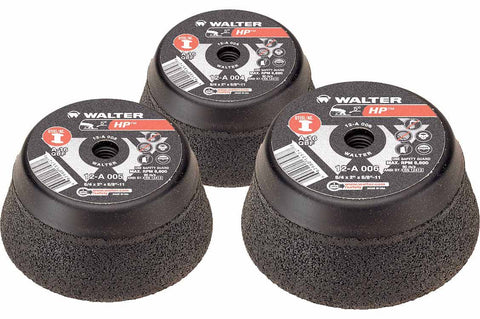 "Walter Cup Grinding Wheels - 4"" x 5/8""-11 HP™ - 12-A-004"