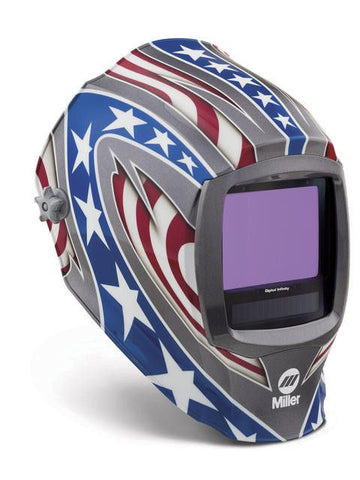 Miller 280049 Stars & Stripes Digital Infinity ClearLight Lens Welding Helmet