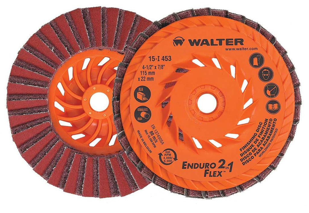 "Walter 15I453 2IN1 FLAP DISC: 4.5"" 10 Pack"
