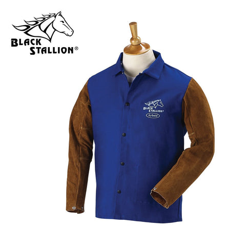 Revco FRB9-30C/BS 9 OZ. FR AND SIDE SPLIT COWHIDE 30 INCH HYBRID JACKET
