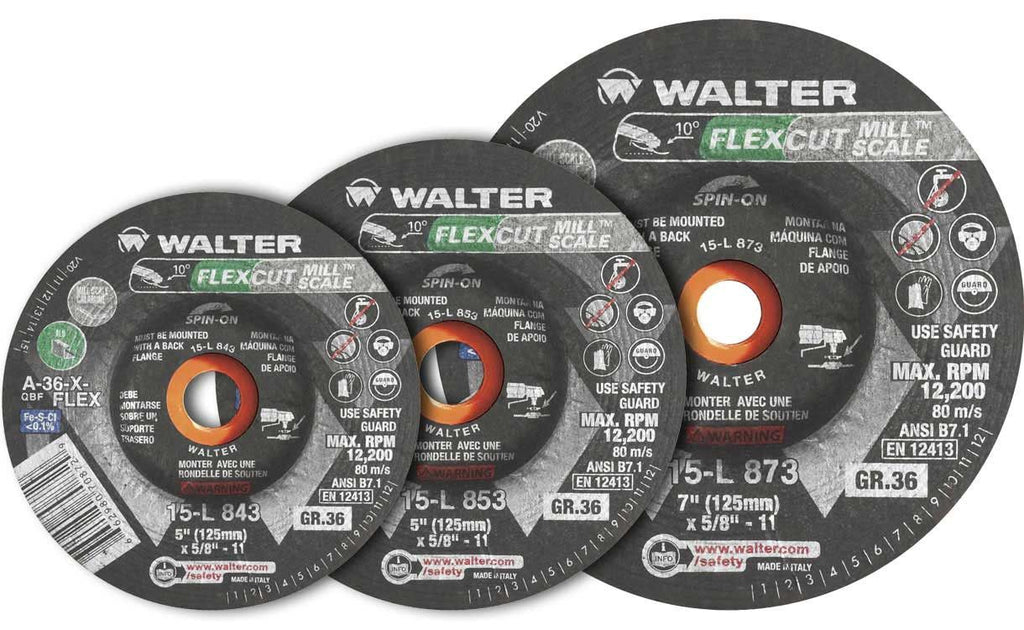 "Walter 15L843 FLEXCUT MILLSCALE: 4.5"" GR36 SPIN-ON 25 Pack"