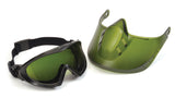 Pyramex GG504TSHIELDIR3  Direct/Indirect Goggle W/ 3.0 IR  Filter Lens with Green Tinted Face Shield Attachment Lens (1 each)