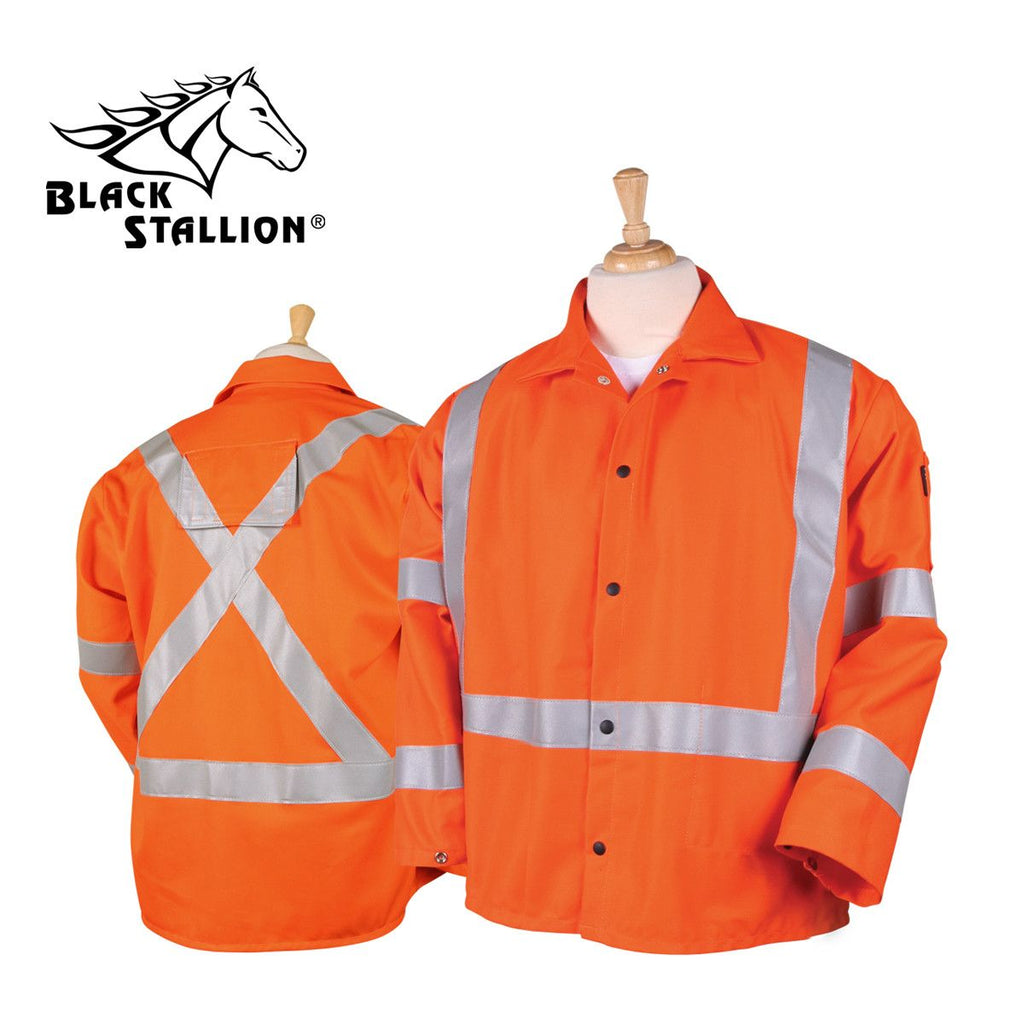 "Revco JF1012-OR TRUGUARD™ 200 FR COTTON 30"" HI-VIS WELDING JACKET"
