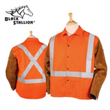Revco JH1012-OR TRUGUARD™ 200 HI-VIS FR COTTON/SPLIT COWHIDE HYBRID™ JACKET