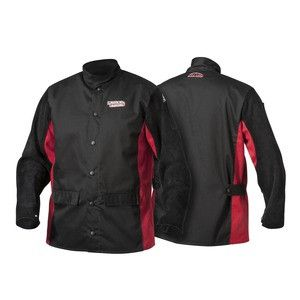 Lincoln K2986 Shadow Split Leather Sleeved Welding Jacket (Medium - 3XL)