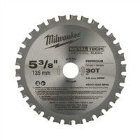 "Milwaukee 48404070 5-3/8"" 30T Metal Circular Saw Blade"