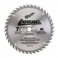 "Milwaukee 48404132 7-1/4"" 40T Carbide Teeth Circular Saw Blade"