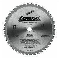 "Milwaukee 48404515 8"" 42T Dry Cut Cerment Tipped Circular Saw Blade"