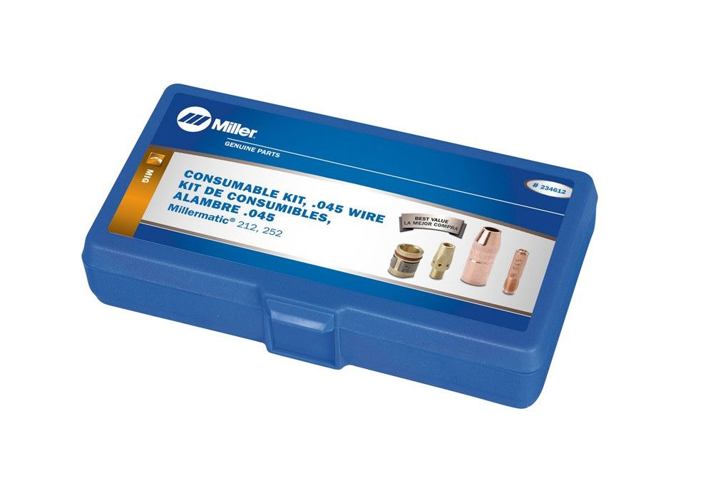 Miller 234612 M-25 MIG Gun Consumable Kit, .045 Wire ...