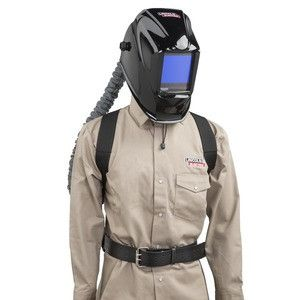 Lincoln K3930-1 PAPR (Powered Air-Purifying Respirator) with Black Viking 3350 Welding Helmet
