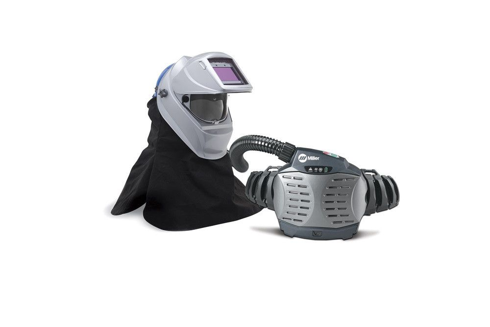 Miller 261659 PAPR (Powered Air-Purifying Respirator) with Hard Hat & Titanium 9400i Welding Helmet Overview