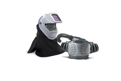 Miller 261659 PAPR (Powered Air-Purifying Respirator) with Hard Hat & Titanium 9400i Welding Helmet