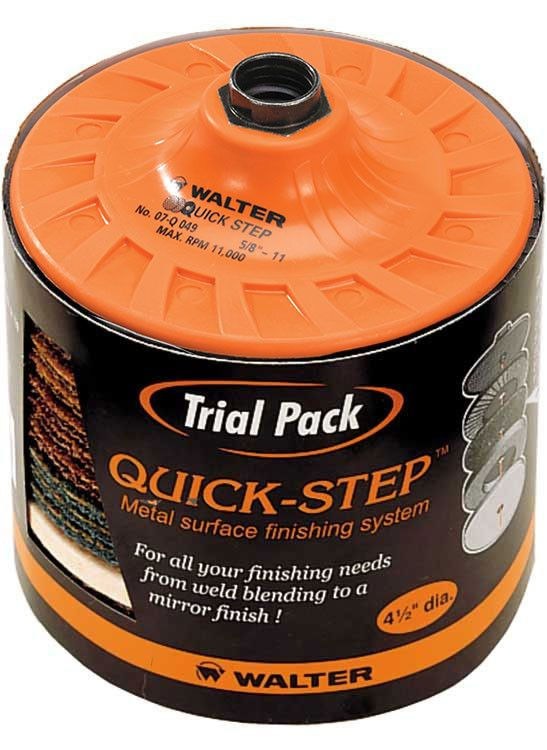 "Walter 07Q953 4.5"" x 5/8""-11"" Quick-Step Trial Pack (1 Pack)"