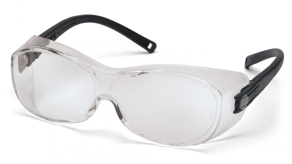 Pyramex S3510SJ OTS Black Safety Glasses W/ Clear Lens (12 each)