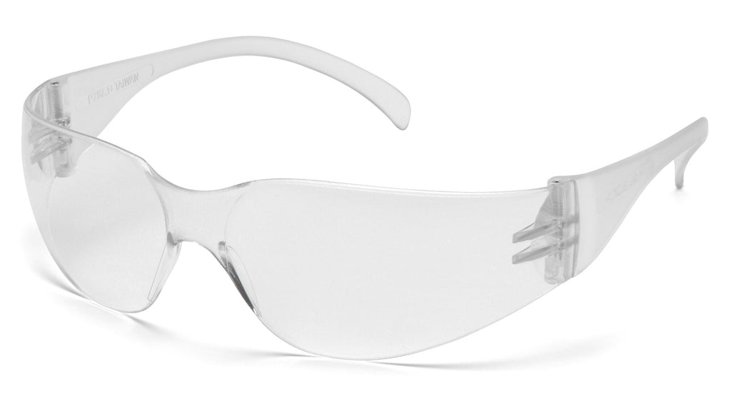 Pyramex S4110ST Intruder Clear Safety Glasses W/ Clear-Hardcoated Anti-fog Lens (12 each)