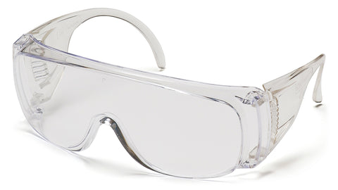 Pyramex S510S Solo Clear Safety Glasses W/ Clear Lens (12 each)