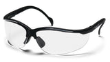Pyramex SB1810S Venture II Black Safety Glasses W/ Clear Lens (12 each)