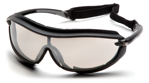 Pyramex SB4680STP XS3 Plus Black Goggles W/ Indoor/Outdoor Mirror Anti-Fog Lens (12 each)