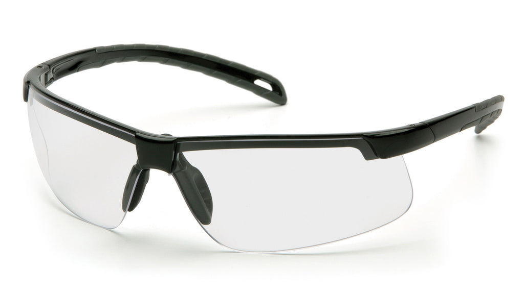 Pyramex SB8610DTM Ever-Lite Black Safety Glasses W/ Clear H2MAX Anti-Fog Lens (12 each)