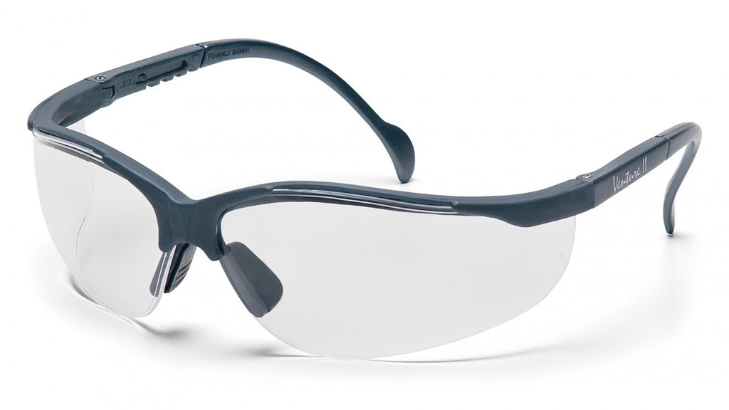 Pyramex SSG1810S  Venture II Slate Gray Safety Glasses W/ Clear Lens (12 each)