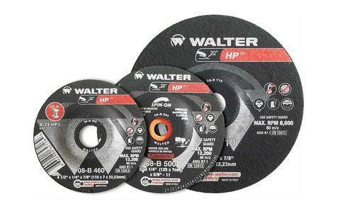"Walter 08B717 7"" x 1/8"" Metal Spin-On HP Combo Grinding Wheel"