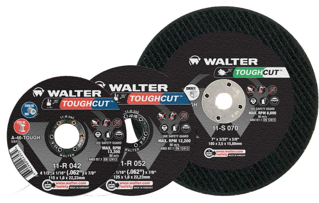 "($75.17) Walter 11-R-042 4 1/2"" Toughcut™ Cut-Off Wheel"
