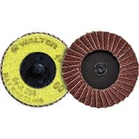 "Walter 04-A-258 2 1/2"" 80 Grit Twist Flap Disc (10 Pack)"