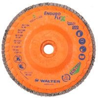 "Walter 15-Q-462 4 1/2"" x 7/8"" 120 Grit Enduro Flex Stainless Flap Discs (10 Pack)"