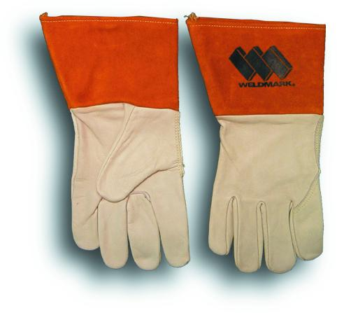 "Weldmark WM815103 Mig Top Grain Cowhide Premium Grade Gloves with 4"" Cuff (Pkg. of 12)"