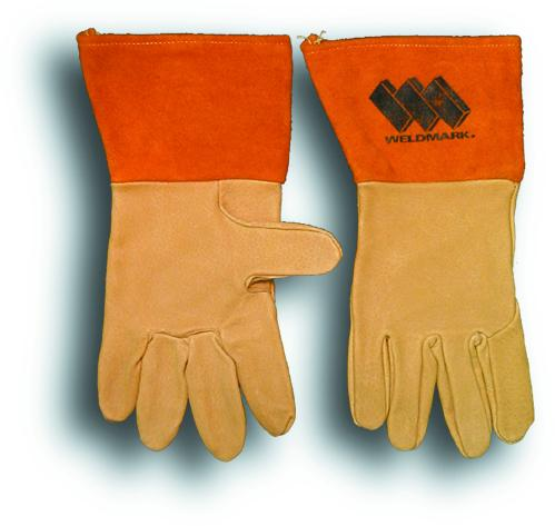 "Weldmark WM817104 Tig/Mig Top Grain Pigskin Unlined Gloves with 4"" Cuff (Pkg. of 12)"