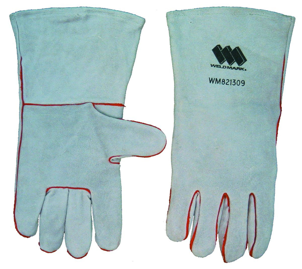 "Weldmark WM821309 Welding Large Split Gray Cowhide 13"" Full Welt Lined Gloves (Pkg. of 48)"