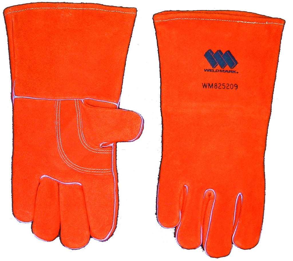 "Weldmark WM825209 Large Split Brown Cowhide 13"" Cotton Lined Gloves (Pkg. of 48)"