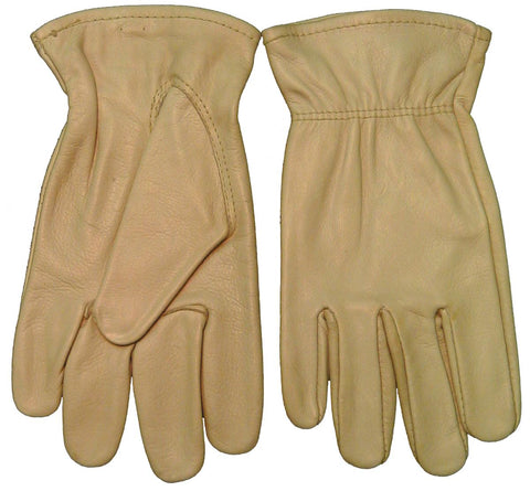 Weldmark WM833103 Drivers Top Grain Cowhide Tan Unlined Elastic Cuff Gloves (Pkg. of 12)