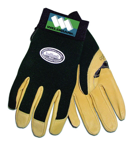 Weldmark WM837103 Premium Drivers Green Spandex with Pigskin Palm Gloves 1 Each