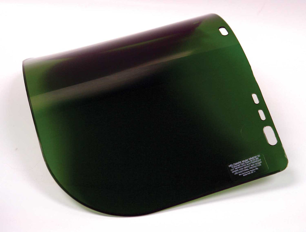 Weldmark WM839130 Dark Green Visor 9 X 13 X .060 (IM1P6FD) (Pkg. of 50)