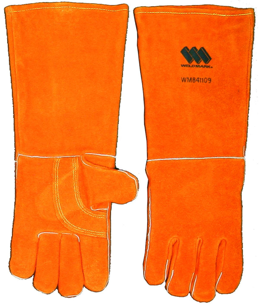"Weldmark WM841109 Large Split 18"" Brown Cowhide Foam Back Lined Gloves (Pkg. of 36)"