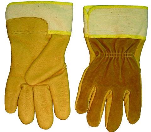 Weldmark WM849109 Large Fitters Top Grain Pigskin Palm Split Cowhide Back Gloves (Pkg. of 120)