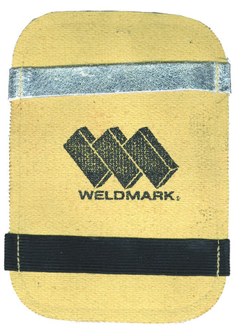 Weldmark WM894019 Glove Hand Pad Aluminized with Straps (Pkg. of 12)