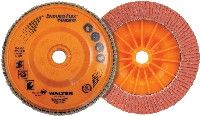 "Walter 06A452 4.5"" x 5/8-11"" Spin-On 36/60 Grit Enduro-Flex Turbo Flap Disc"