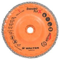 "Walter Flap Wheels - 5"" Enduro-Flex™ 40 Grit - 06-B-504"