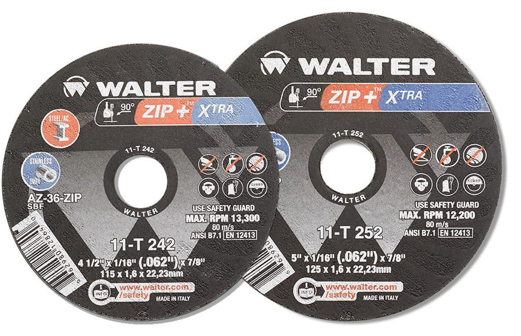 "Walter 11-T-252 5""  ZIP +™ Thick Gauge Cut-Off Wheels"