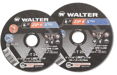 "Walter 11T252 5"" x 1/16"" x 7/8"" ZIP+ Xtra Cut-Off Wheels"