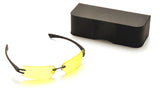 Pyramex DV30 Black Safety Glasses W/ Yellow Tinted with Anti-Reflection Coating Lens