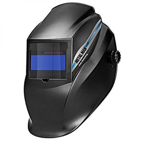 Metal Man AB8100SC Black Variable Shade Auto Darkening Welding Helmet