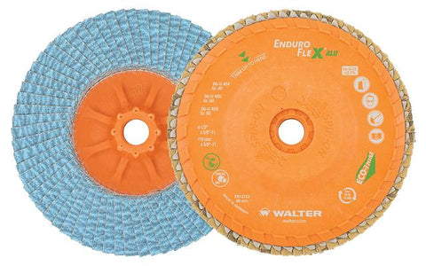 """Walter 06W458 ALLSTEEL Flap Disc Pack of 10 4-1//2/"""" x 5//8""""-11,SPIN ON 80 Grit"""