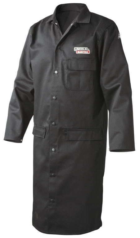 Lincoln K3112 Black Welding Lab Coat (Medium to XL)