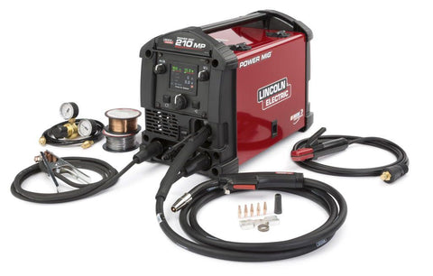 Lincoln K4195-1 Power MIG 210 MP Multi-Process Welder Aluminum One-Pak