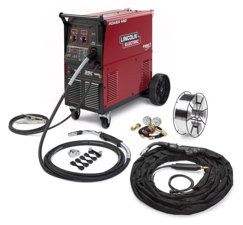 Lincoln K4023-1 Power MIG 350MP MIG Welder W/ Aluminum Rear One-Pak for Trailer Fab